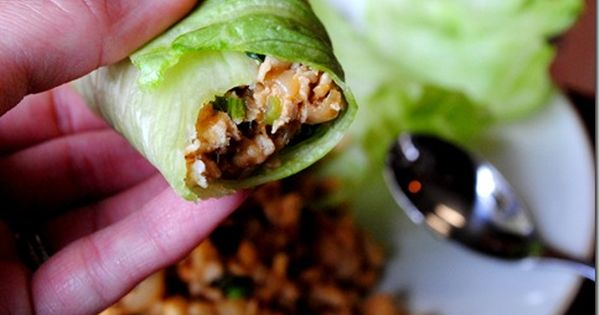 PF Chang's lettuce wraps recipe Ingredients: 1lb ground chicken breast 1/2 medium
