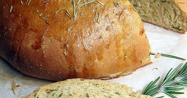 crockpot...Rosemary Olive Oil Bread. Simple easy recipe for 1 round loaf...no bread