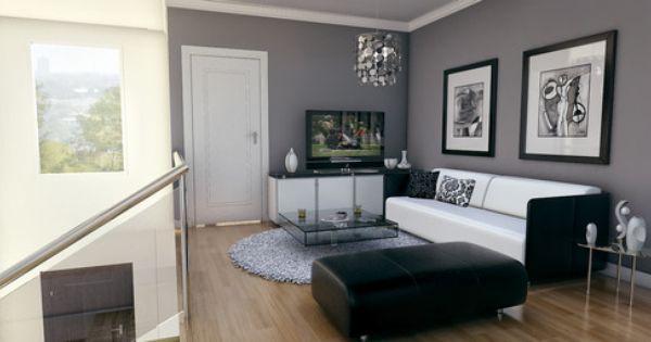 living room grey walls SU Deco Livingroom Pinterest