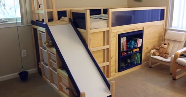 Jm Allcreated Ikea Hack Bunk Bed Slide Secret Room Diy 1