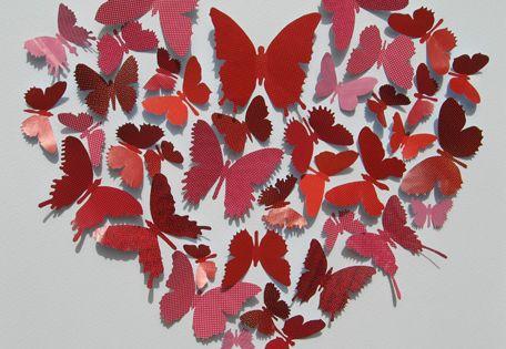 Paper Heart of butterflies
