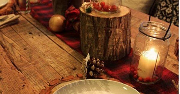 D co de table no l le style rustique est au rendez vous - Deco table printempsidees belles et rafraichissantes ...
