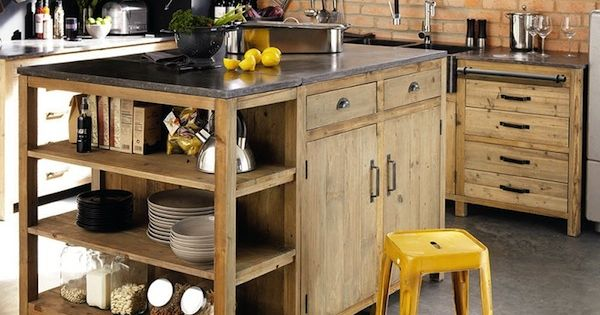 get inspired vintage kitchen design with industrial. Black Bedroom Furniture Sets. Home Design Ideas