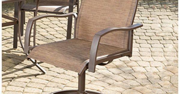 Wilson Amp Fisher 174 Set Of 2 Chesapeake Sling Swivel Chairs