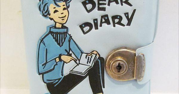Date Line Dear Diary 1950 S Blue Vinyl Diary Unused