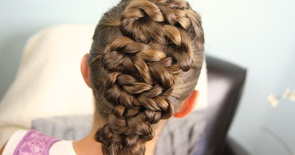 Twisted zig zag hairdo