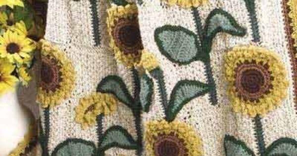 Crochet Sunflower Afghan Crochet Goodness Pinterest