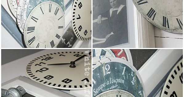 white life ©: Recycling of old CDs. Free clock face printable