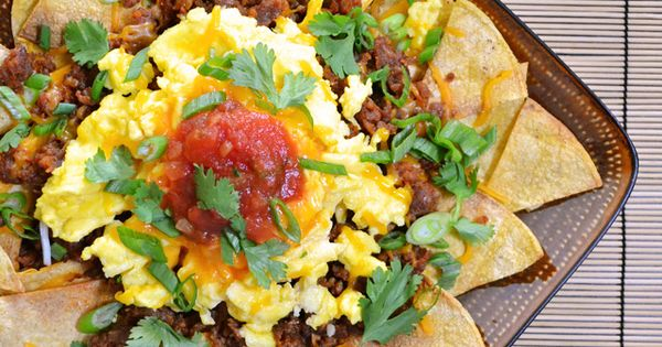 Wow nachos for breakfast!! Chorizo Breakfast Nachos from Budget Bytes