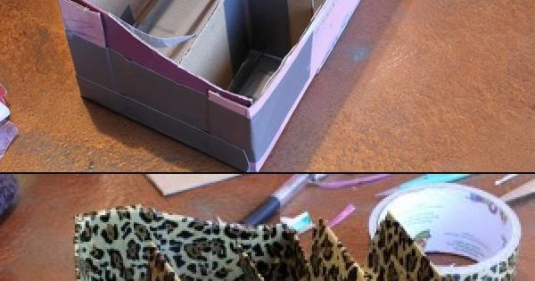how to make duct tape organizer