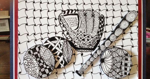 Baseball Zentangle Paper Crafts Zentangle Etc