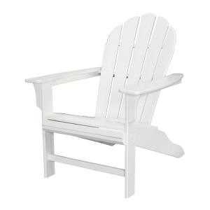 Trex Outdoor Furniture Hd Classic White Patio Adirondack Chair Txwa16cw At The Home Depot Trex Outdoor Furniture Modern Outdoor Furniture Plastic Patio Chairs