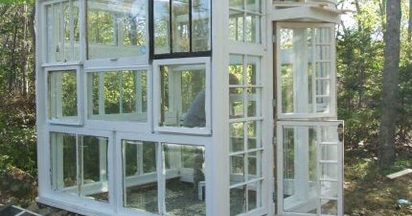 recycled window greenhouse - Gardening Ideas With The Green Thumb