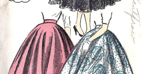 1950s Misses' Circle Skirt Vintage Sewing Pattern