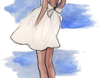 Fashion Sketch: little white dress