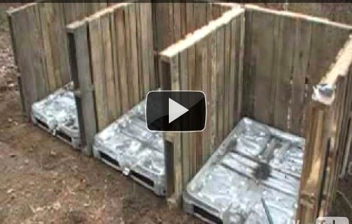 Compost bin made of pallets (video) | This idea with a pallet
