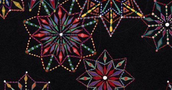 mosaic made from PILLS~ artist Fred Tomaselli art mosaic mixed_media