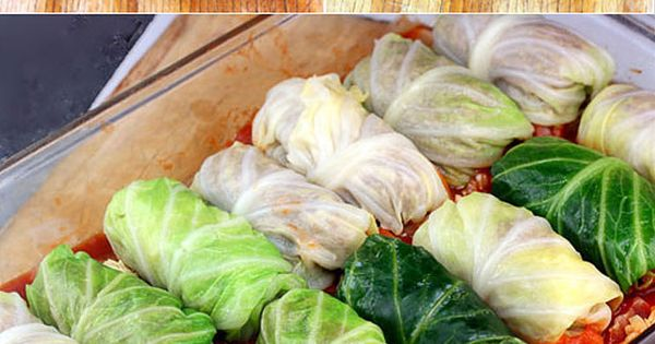 Amazing Stuffed Cabbage Rolls. Tender leaves of cabbage stuffed and rolled with