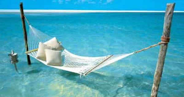 THIS IS MY HEAVEN - the ocean and a hammock.