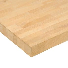 72 W X 36 D X 1 3 4 Thick Birch Butcher Block Square Edge