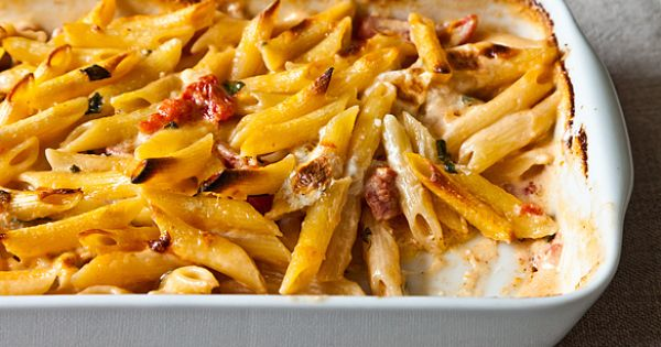 Penne with Tomato, Cream & Five Cheeses | Penne, Tomatoes and Cheese ...
