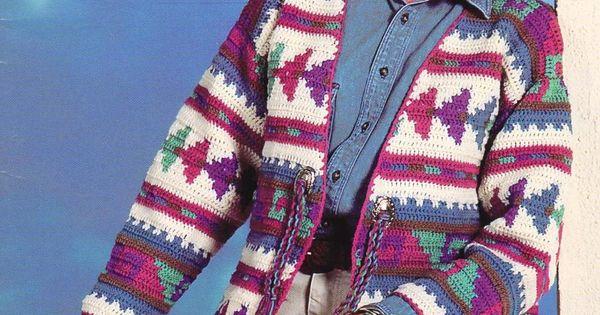 Crochet Indian Tribal Jacket Sweater Coat Amp Hat Pattern