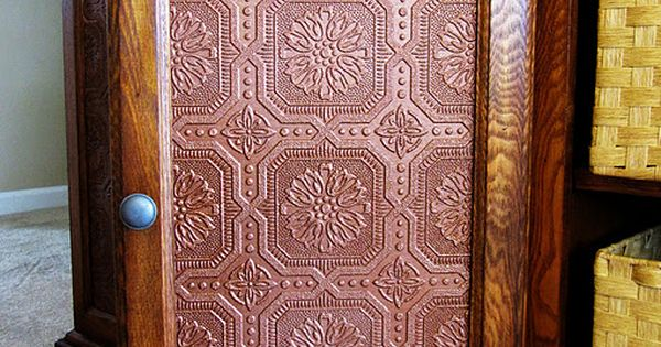 Faux Tin Panels To Replace Glass Cabinet Doors May Have