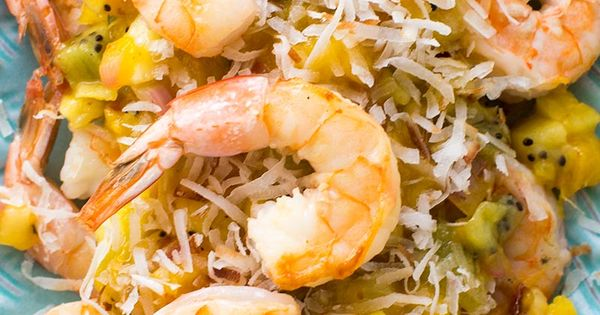 Shrimp, Toasted coconut and Salsa on Pinterest