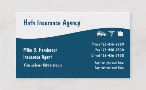 Multiple Line Insurance Business Cards Zazzle Com Business Insurance Business Cards