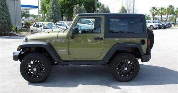 2013 Green Jeep Wrangler Sport Http Www Iseecars Com Used Cars