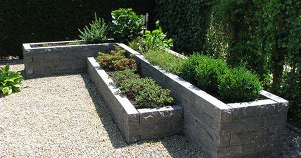 Stapelblokken tuin google zoeken tuin harde materialen pinterest zoeken google en tuin - Terras rand idee ...