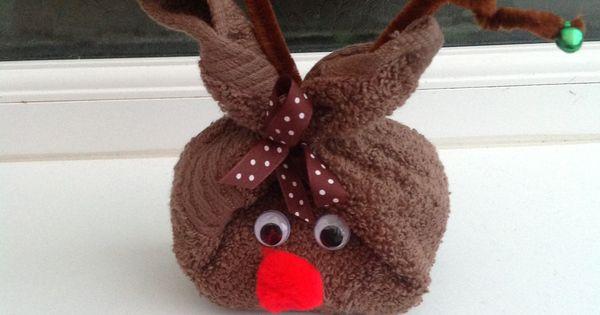 Reindeer Face Cloth Amp Soap Christmas Pinterest