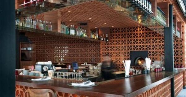 Mexican restaurant design ideas red brick calaveras