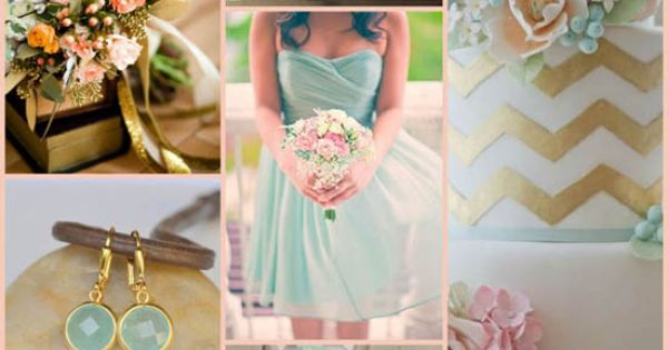 a Coral & Mint wedding color palette will always be a winner!
