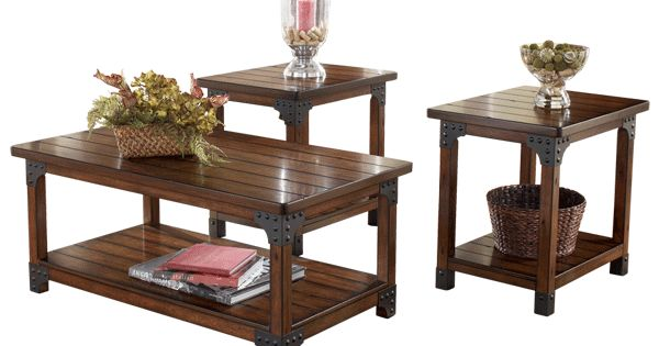 Rustic Living Room Table Sets: Murphy Collection At Ashley