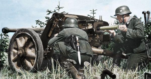 German 50 Mm Anti Tank Gun: German Gunners Of The 19th Panzer Division Manning A 50 Mm