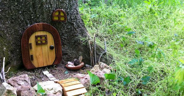 Fairy garden in the woods. Idea for our Fairy home