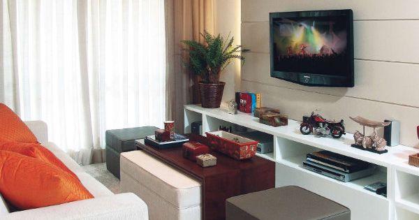 Sim senhora inspira o decora o salas de tv pequenas for Cortinas para sala pequena