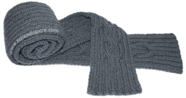Cómo tejer una bufanda con detalles de trenzas reversibles entrelazadas para caballeros!