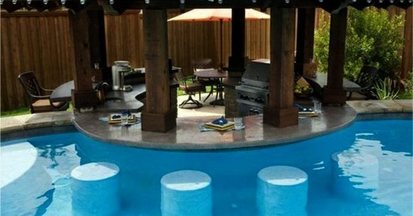 A pool with a swim up bar yes please amazing pools pinterest pools pool cost and swimming for Hillsborough swimming pool prices
