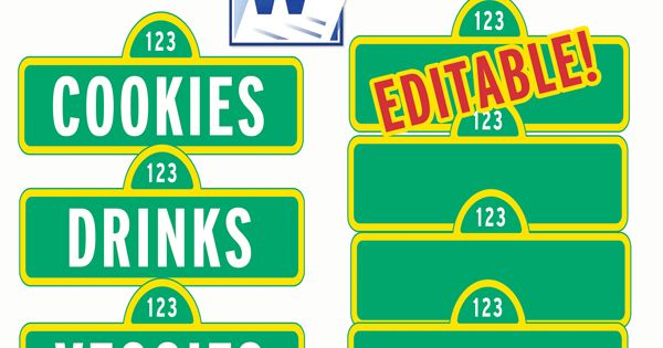 Sesame street signs, Street signs and Sesame streets on ... |Printable Sesame Street Logo