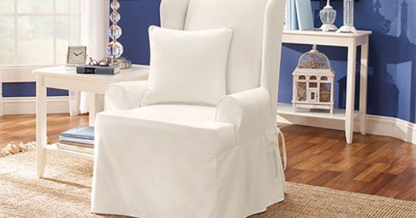 Wingback Chair Cover Slipcovers For Chairs Wingback Chair