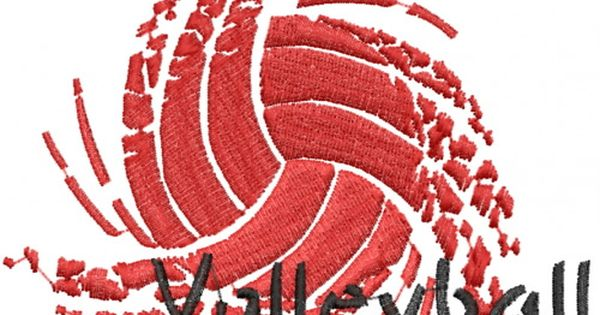 Sport volleyball embroidery design tshirt ideas