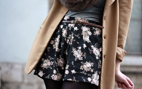 Flowy floral shorts... I got a pair tonight :)