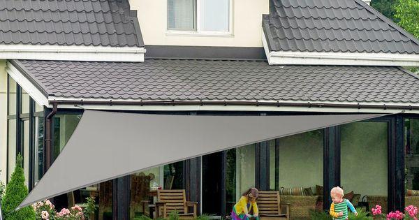 sonnensegel wasserabweisend dreieck 5 farben 4 gr en sichtschutz f r garten. Black Bedroom Furniture Sets. Home Design Ideas