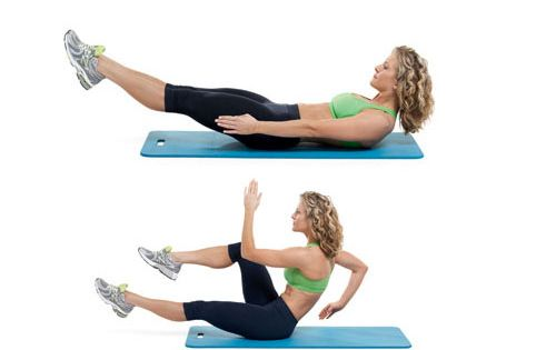 The Sprinter: This move is designed to tap into the deep abdominal