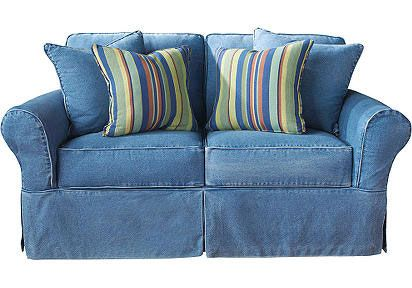 Genius Obviously Jeans Leopard And Sparkles Denim Couch Denim Sofa Blue Sofa Living