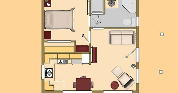 Small house floor plans under 400 sq ft l 35876cb36f5020e1 for Income suite house plans