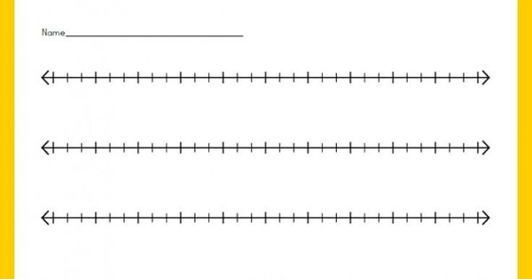 Blank Number Lines Worksheet Customizable And Printable
