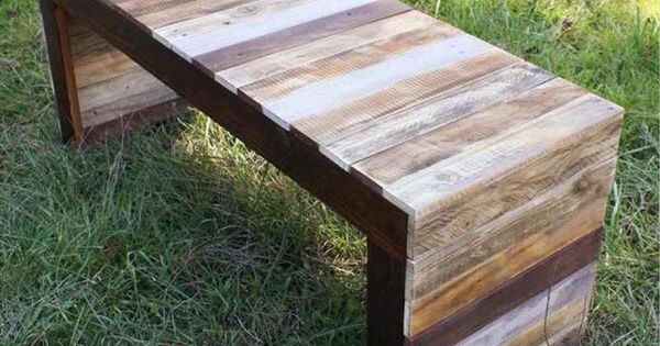 faire un banc en palette de bois et le d corer soi m me les top id es diy pallets. Black Bedroom Furniture Sets. Home Design Ideas